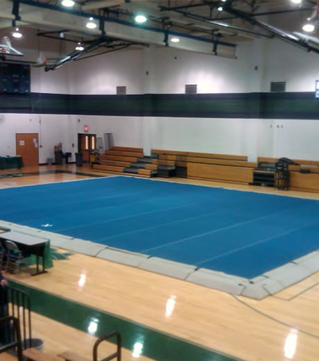 how to build a spring floor for cheer