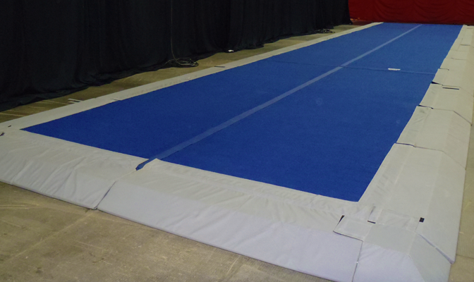 Spring floor rentals cheerleading floor rentals spring for Used gymnastics spring floor